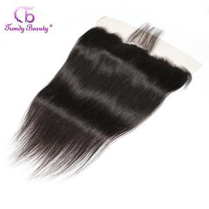 Image 5 - Modne piękne brazylijskie pasma prostych włosów z koronkowym czołem 100% wiązki ludzkich włosów z koronkowym przednim średnim stosunkiem nie remy