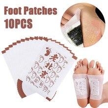 10 шт детоксикационные подушечки для ног, детоксикационные Пластыри для ног, уход за ногами, для похудения, Старый Пекин, пластырь для ног, имбирь, органическое детоксикационное Очищение ног
