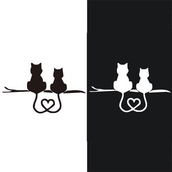 Car Truck Decal Vinyl Graphics Side 3D Cute Cat Body Decal For Vehicles/bedroom/bathroom/living Room Photo Frame Wall Stickers image