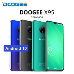 Перейти на Алиэкспресс и купить doogee x95 6.52дюйм. 19:9 4g smartphone quad core android 10.0 mtk6737 mobile phone 2gb 16gb 4350mah cellphone face id 13mp+2mp+2mp