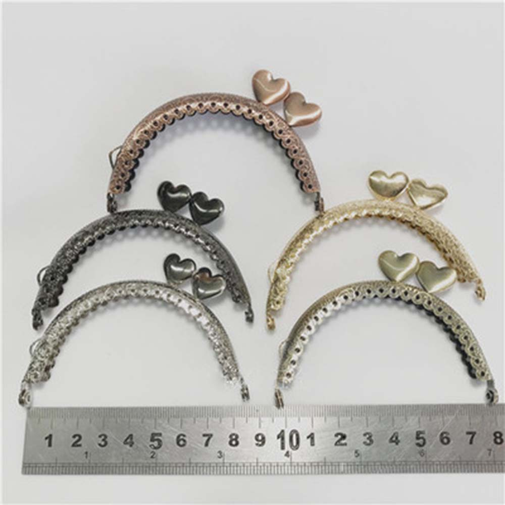 8.5cm Metal Purse Frame Making Kiss Clasp Lock For Clutch Bag Accessories 5 Colors DIY Coin Purse Bags Hardware