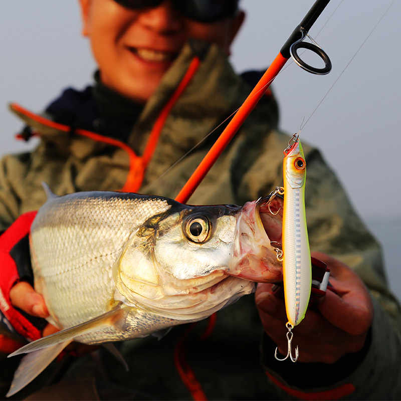 Reino unido kcr iscas de pesca quente popper e lápis, 110mm 125mm, flutuante topwater, iscas duras, design da cabeça boa ação wobblers