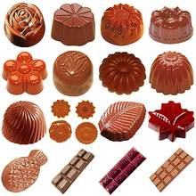Polycarbonate Chocolate Moulds 3D Chocolate Candy Bars Mold Tray Polycarbonate Plastic Form Flowers Baking Pastry Bakery Tools