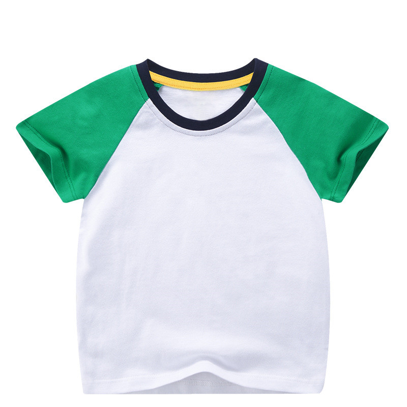 VIDMID boys girls short sleeve t-shirts tees kids cotton clothes tops t-shirts boys candy color tees tops children tees 7042 03 6