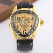 GOER Watches Men Fashion Triangle Watches Men Mechanical Watches Men Skeleton Watches Men Automatic Watches Relogio Masculino cheap T-GOER Buckle No waterproof Stainless Steel Automatic Self-Wind 27cmcm Fashion Casual No package 24mm None goer watch 0088
