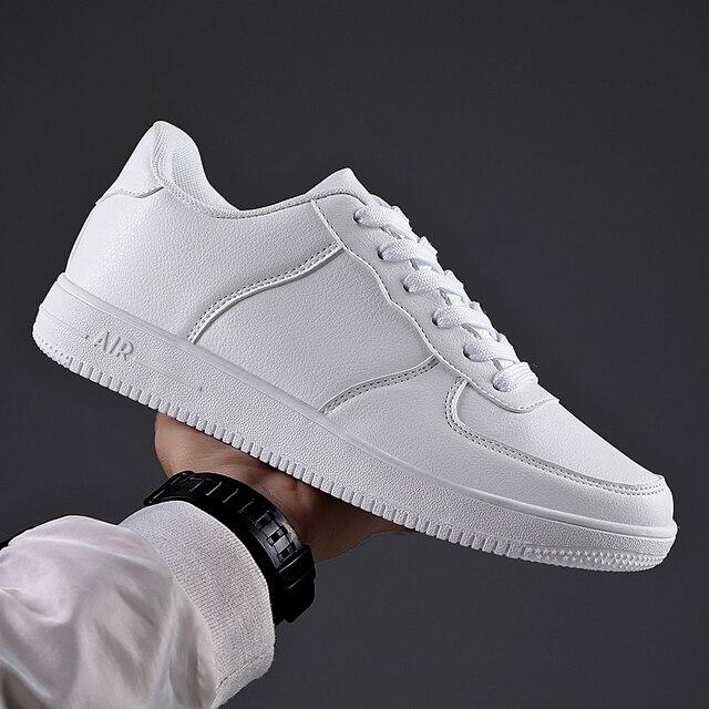 Venda quente branco tênis masculinos 2020 luz sapatos casuais para homem respirável preto sapatos masculinos tamanho grande tenis masculino zapatos hombre