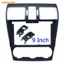 """FEELDO samochodowy sprzęt Audio 2Din Panel do montażu na desce rozdzielczej konsola rama adapter do Subaru Forester 9 """"płyta czołowa CD/DVD rama Bezel zestaw instalacyjny"""