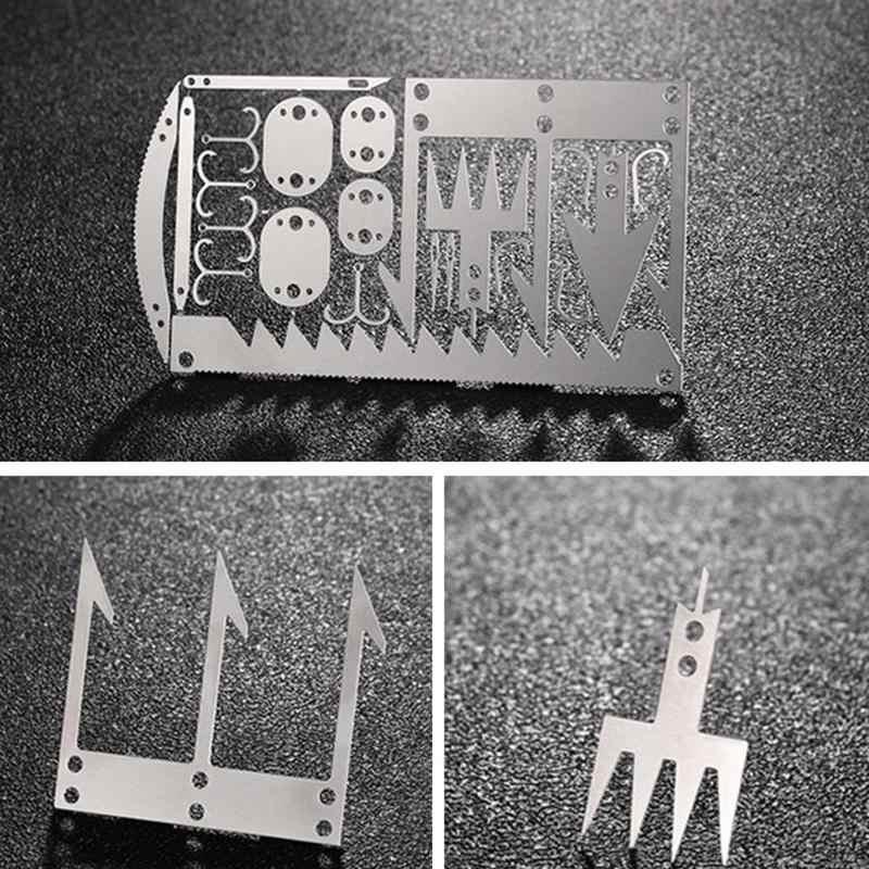 22 en 1 Camping carte de survie poche Multitool carte couteau survie Camping chasse couteau tactique utilitaire outils à main