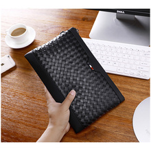 Wmnuo Brand Clutch Wallets Men's Pures Handbags Genuine Leather Sheepskin Hand Woven Casual Business Envelope Bag Phone Bag