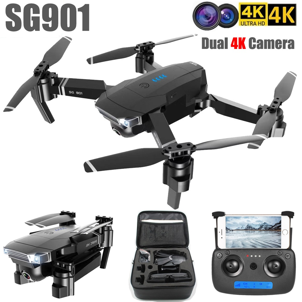 SG901 Camera Drone 4K HD Dual Camera Follow Me Quadrocopter FPV Professional GPS Long Battery Life RC Helicopter Toy For Kid