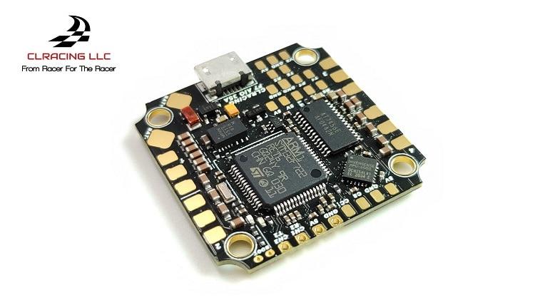 CLRACING-CONTROLADOR DE VUELO F7 WHOOP AIO V2 2-6S MPU6000 F722, BLHELI32 35A 4 en 1 ESC para Drones de carreras RC FPV