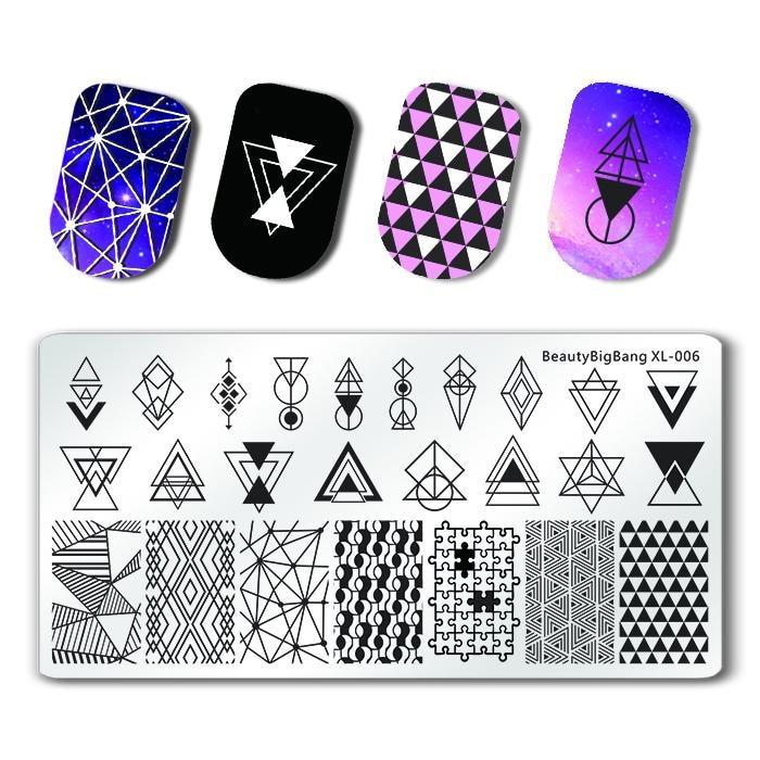 BeautyBigBang 6*12 см прямоугольные пластины для стемпинга ногтей летние цветочные геометрические штампы для дизайна ногтей шаблон трафареты для и...