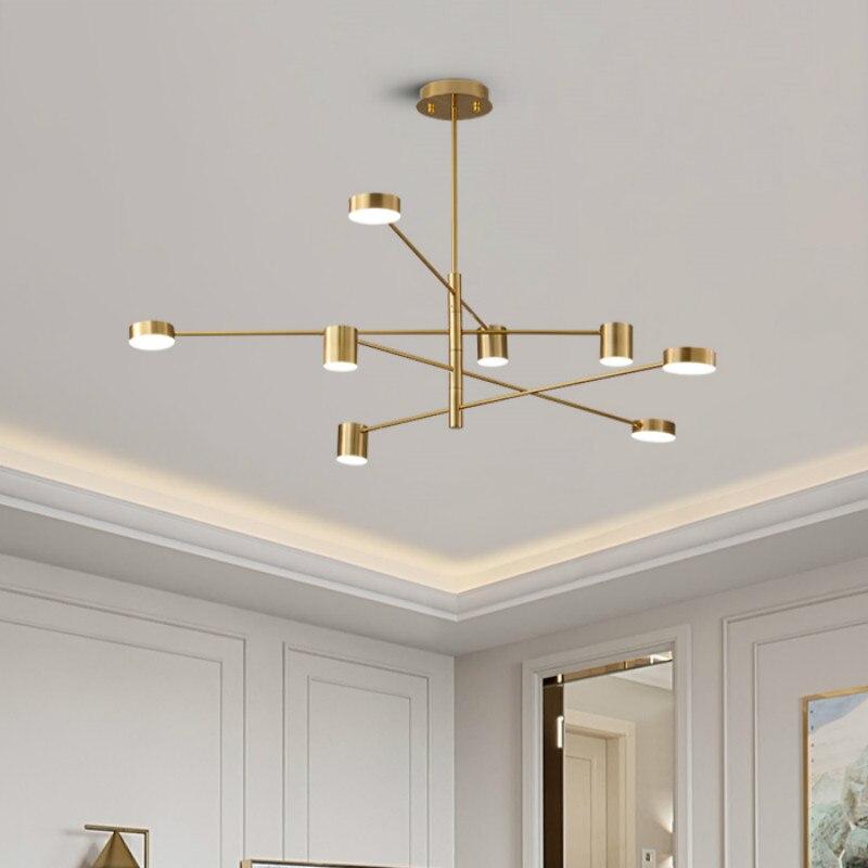 Modern Luxury Golden Pendant Lights LED Nordic Creative Loft Iron Hanging Lamp For Restaurant Livingroom Bedroom Bar Indoor Deco