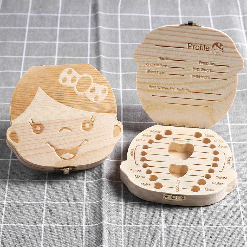 Create Idea Caja organizadora de Dientes de Madera para Guardar los Dientes de Leche de los ni/ños peque/ños