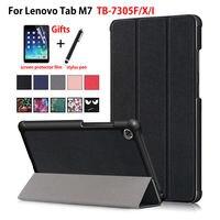 Case For Lenovo Tab M7 TB 7305F TB 7305X TB 7305i Cover Funda For Lenovo tab m7 Slim Magnetic Folding PU Leather Stand Shell|Tablets & e-Books Case|   -