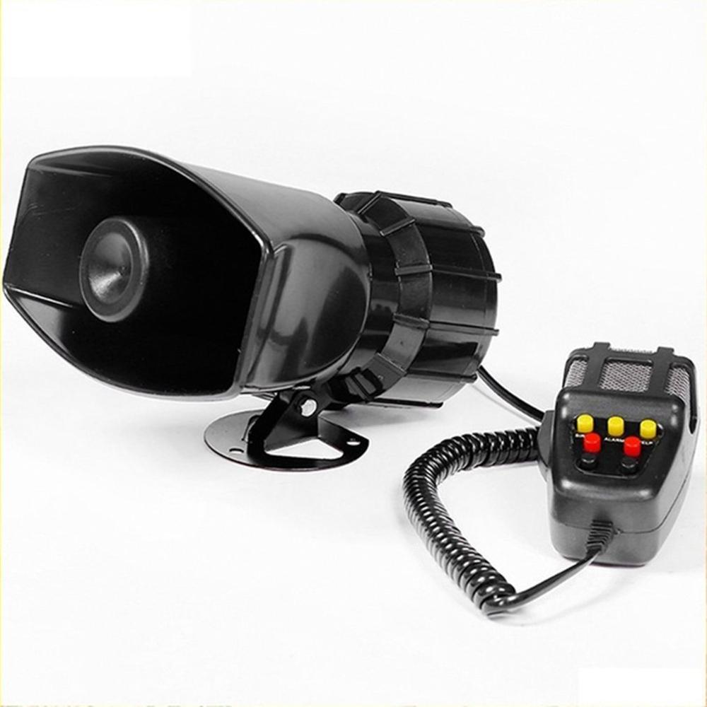 New 100W 7 Sound Loud Car Alarm Police Fire Horn Siren PA Speaker MIC System 12V
