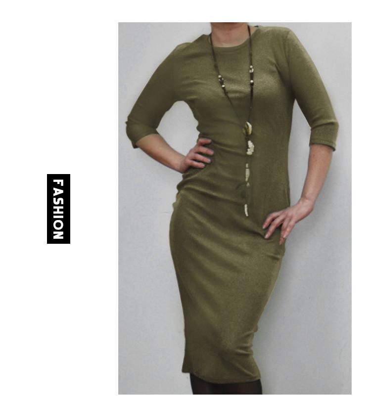 Hfc2e3759d1524db3afb31988311e67a08 2019 Autumn Hot Slim Bodycon Dress Women Solid Color Chic Party Dresses Casual Sleep Wear Inside Wear Vestidos Pencil Dress