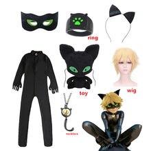 Ensemble costume de carnaval pour enfants, costume de Marinette, dupan-cheng, chat Noir, Cosplay, Halloween, pour garçons et filles