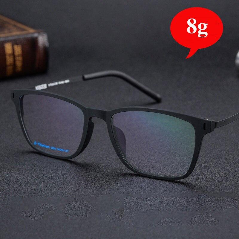 Vazrobe Titanium Eyeglasses Frames Men Women 8g Ultra-light Glasses Male Flexible Spectacles for Prescription Optic Lens unisex