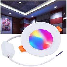 AC 85-265V 7W LED Downlight Coloful With WIFI Smartphone Controlled Punch 3-4 inch