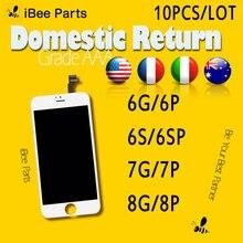 Ibee peças 10 peças para iphone 6s 7 8 mais display lcd 4.7 polegada aaa tela substituição lente pantalla livre dhl