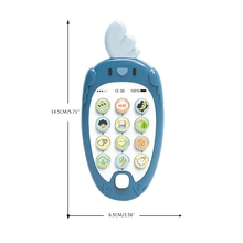 T5EC 1 Pcs Electronic Baby Nibble Pacifier Simulation Education Cell Phone, Intelligent Bottle Toy Baby Bite Can for Toddlers