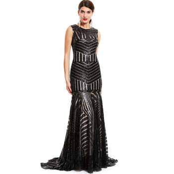 Dressv sequins long evening dress black scoop sleeveless floor length dresses cheap mermaid zipper up formal party evening gown fashion ivory mermaid long evening dresses women 2019 evening gown scoop stretch fabric lace zipper sleeveles formal party dress