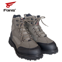 8 Fans Mens Fishing Wading Shoes Anti slip Durable Rubber Sole Lightweight Wading Waders Boots