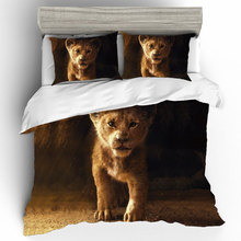 The Lion King Bed Linen Poplin Elastic Fitted Sheet Cotton Couple Duvet Cover Sets Kids Bedding Twin Size Gift