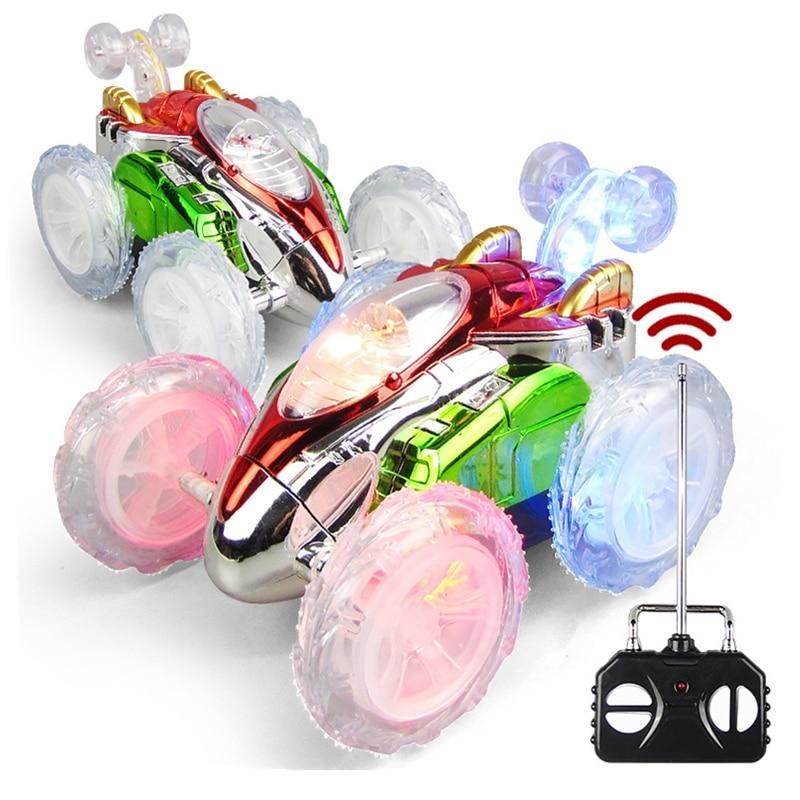 Радиоуправляемый трюковый автомобиль, радиоприемник, электрическая танцевальная модель дрифта, вращающееся колесо, автомобиль, игрушка с ...