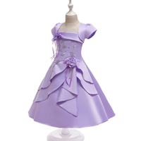 Kids Dresses For Girls With Top Coat Flower Girl Princess Dress Kid baby Wedding Party Christmas Size 2T 3T 4T 5T 14T 2019 New