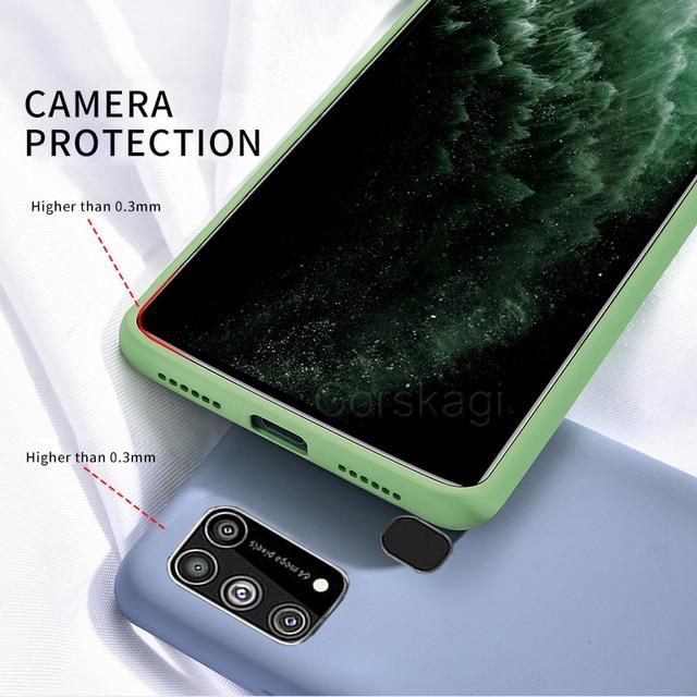 Soft Liquid Silicone Cover Case For Samsung Galaxy M51 M31 M21 M31S S20 FE S10 Lite S10e Note 10 20 A12 A51 A71 A31 A52 A21S A72 6