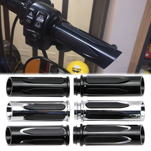 """Çift 1 """"gidon el sapları elektronik gaz kelebeği için Harley Touring yol Glide 2008 + motosiklet gidon CNC alüminyum"""