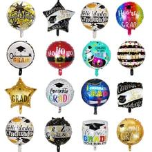 10 stücke Arzt Luftballons Sterne Runde Graduation 2020 Luftballons Grad Globos Gratulieren Geschenk Zurück Zu Schule Party Dekoration Lieferungen