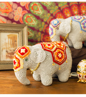 Cute handmade elephant crochet mascot toy gift best birthday gift (done, not DIY)Knitting stuffed doll