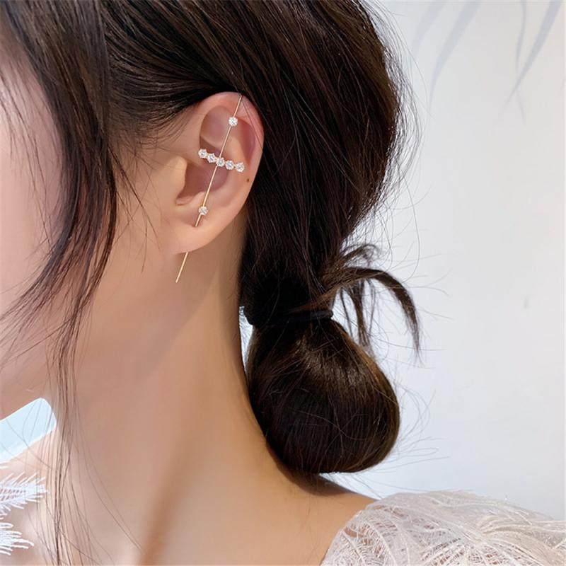 Ear Wrap Crawler Hook Cross Earrings Sash Ear Needles Around The Auricle Clip Jewelry