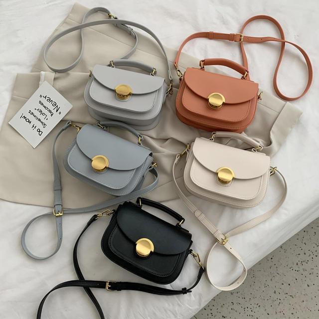 2020 Fashion Small Solid Colors Shoulder Bag
