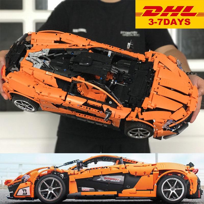 DHL 20087 Technic Toys The MOC 16915 P1 Motor Car Set Orange Super Racing Cars Building