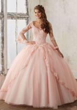 Новое Бальное Платье для пышных торжеств платье с длинным рукавом