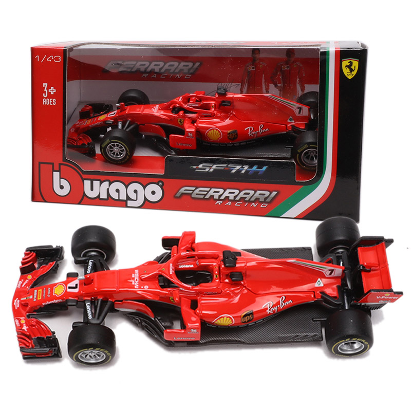 Bburago 1/43 1:43 <font><b>2018</b></font> Raikkonen No7 <font><b>F1</b></font> Formula 1 Racing Car Diecast Display Model Toy For Kids Boys Girls image