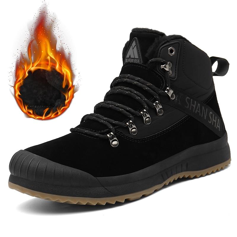 Warm Outdoor Schneestiefel Herrenshuhe Ankle Boots Winterschuhe Männer Baumwolle