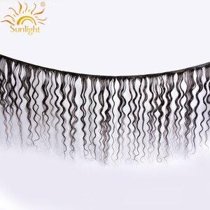 Image 2 - Pacotes Com Fecho de Onda de Água Do Cabelo humano Luz Solar 3 Indiano da Extensão Do Cabelo Não Remy Do Cabelo Tecer Pacote Com Fecho de Rendas 4*4