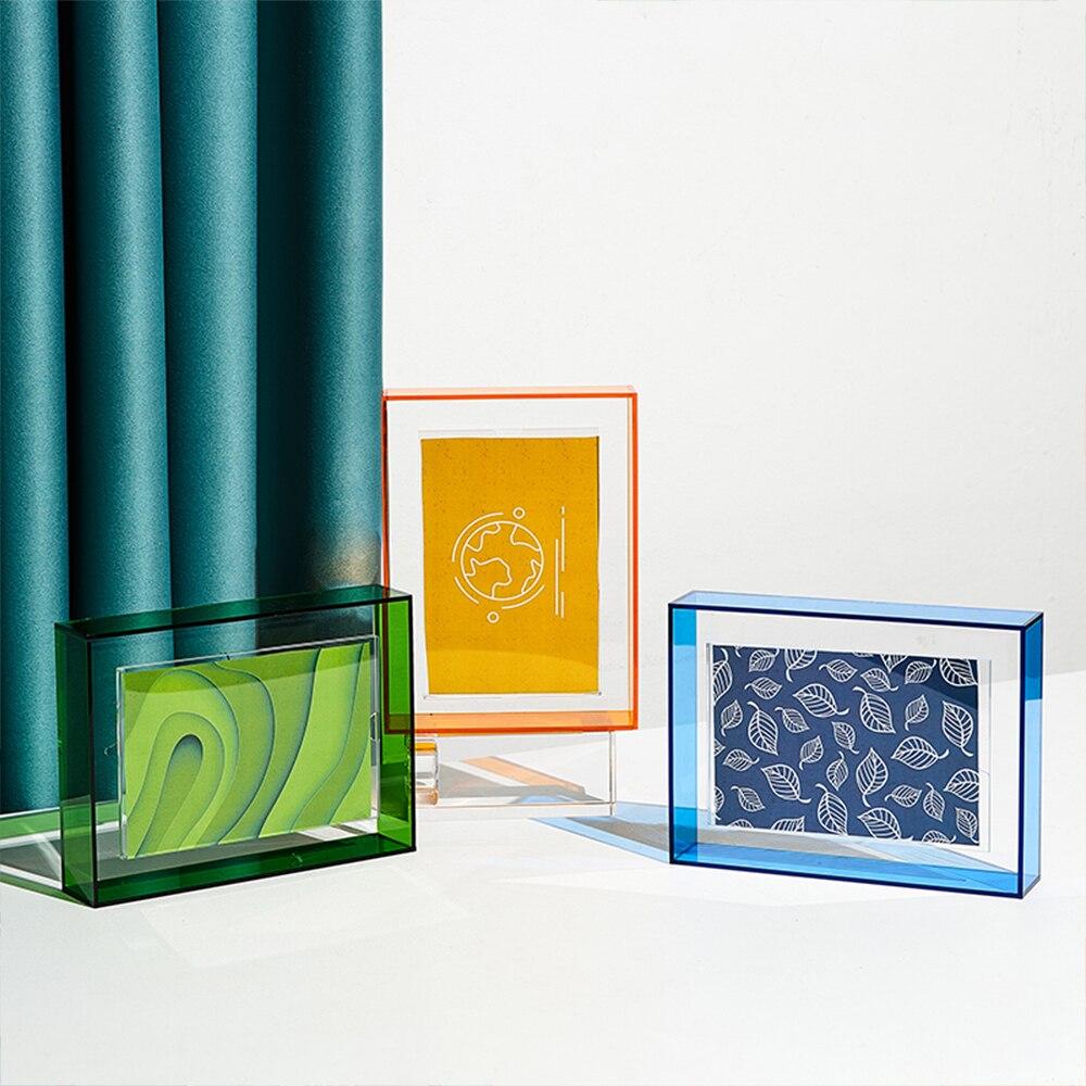 Nordic Home Decoration Creative Color Acrylic Photo Frame Bedside Table Decoration Photo Display Acrylic Blanks Photo Frame