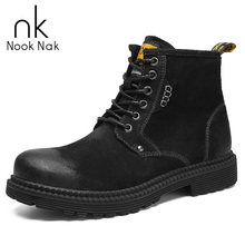 купить Martin Boots Match Type Shoes Men Boots Men Chelsea Boots Non-slip working boots Genuine Leather Free Shipping Size 38-45 дешево