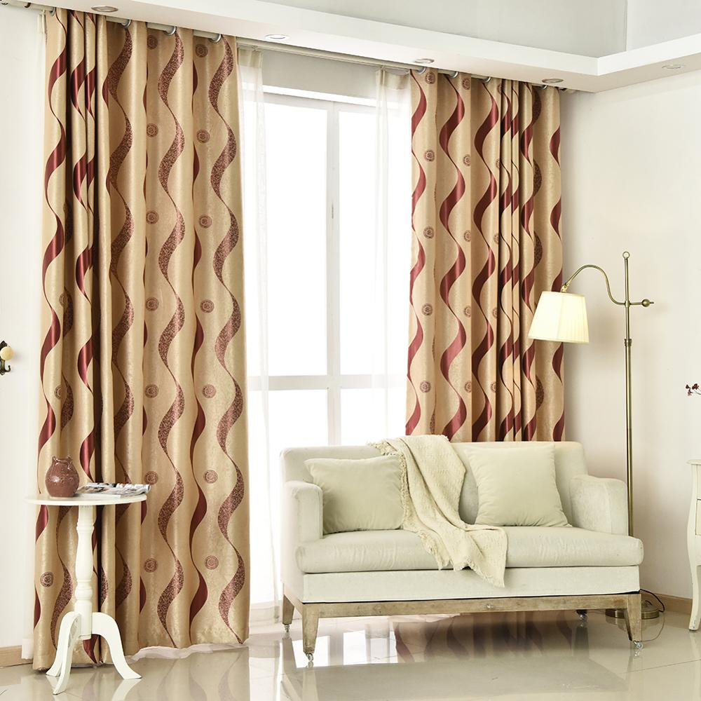 Topfinel Thick Luxury Wavy Striped Kitchen Curtains for Living Room Bedroom Curtains Decoration Modern Blackout Curtains in Curtains from Home Garden