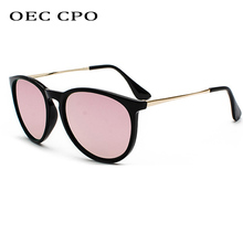OEC CPO Men Oval Polarized Sunglasses Women Men Brand Design Fashion Pink Black Female Metal Sun Glasses For Men UV400 PO99 цена