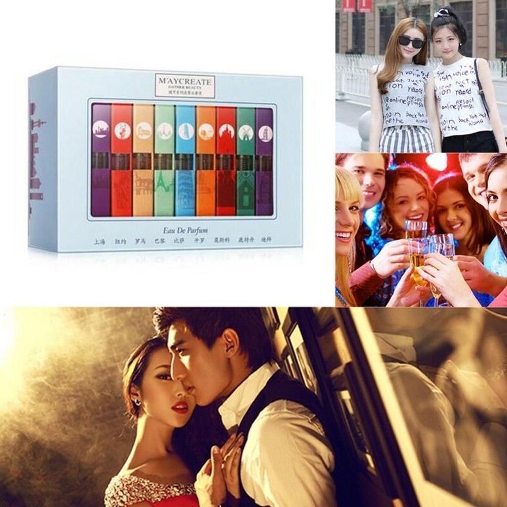 9 Pcs/Set Women Perfume Mini Different Fragrance Deodorant Aromatic Summer Perfumes Set For Birthday/Festival Gift
