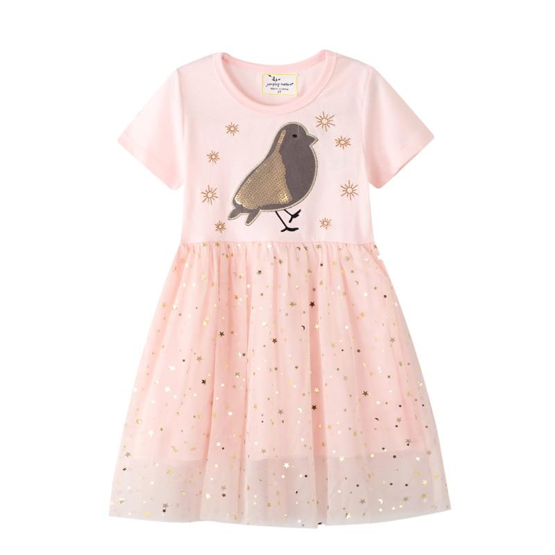Girls Sequins Unicorn Dress Girl Kids Party Wear Dresses For Girls Princess Dress Children Summer Clothes Kids Vestidos 1