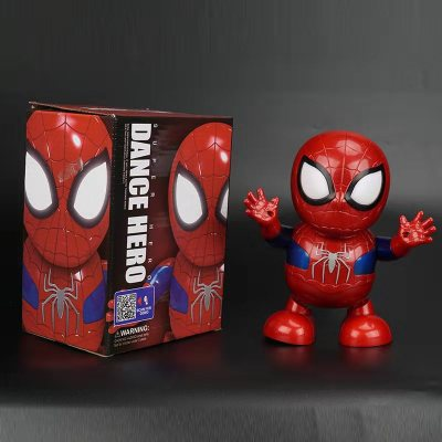 NEW Avengers 4 Hero Spider Man Dancing Tobots With Music Lights Great Kids Toys
