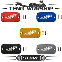 For HONDA CBR650R CBR 650R 2018 2019 Motorcycle Accessories Front Brake Clutch Cylinder Fluid Reservoir Cover Cap With Logo mtkracing motorcycle accessoreis cnc front brake fluid reservoir cover caps with logo for honda x adv x adv 2017